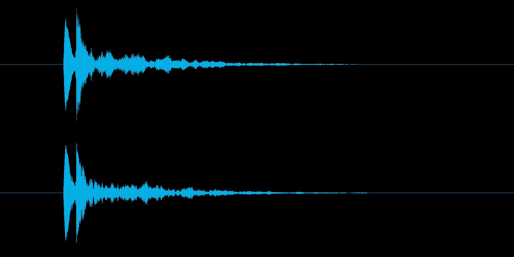 (ポロンッッ)アプリ起動音の再生済みの波形