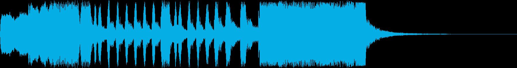 華々しい金管のファンファーレの再生済みの波形