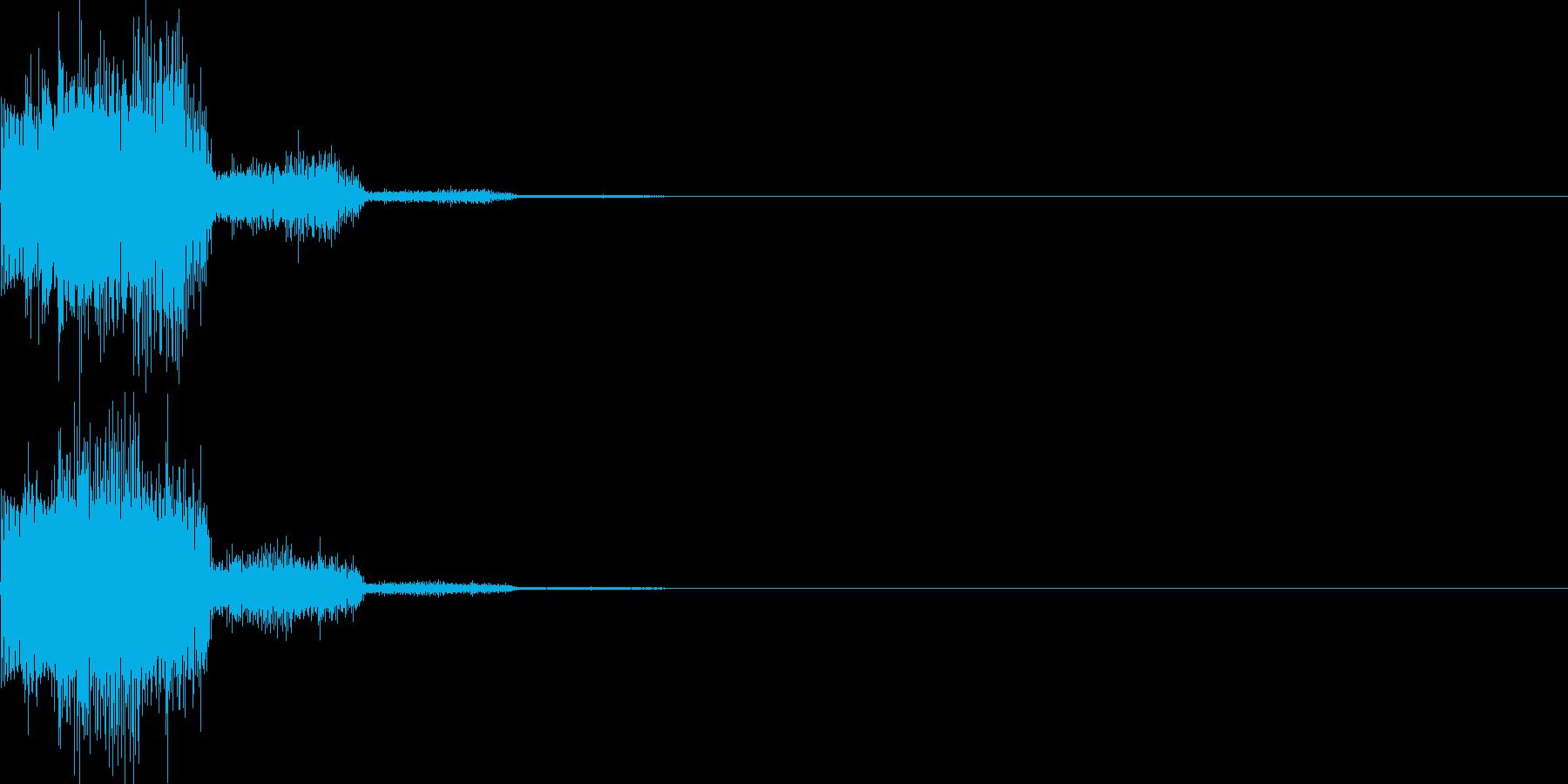 キャンセル音13(シンセ系Q)の再生済みの波形