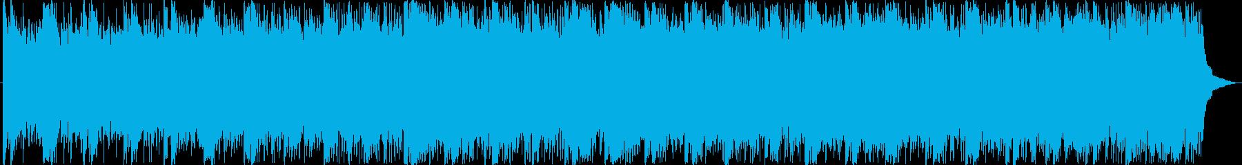 ハリウッド風のオーケストラ音楽の再生済みの波形