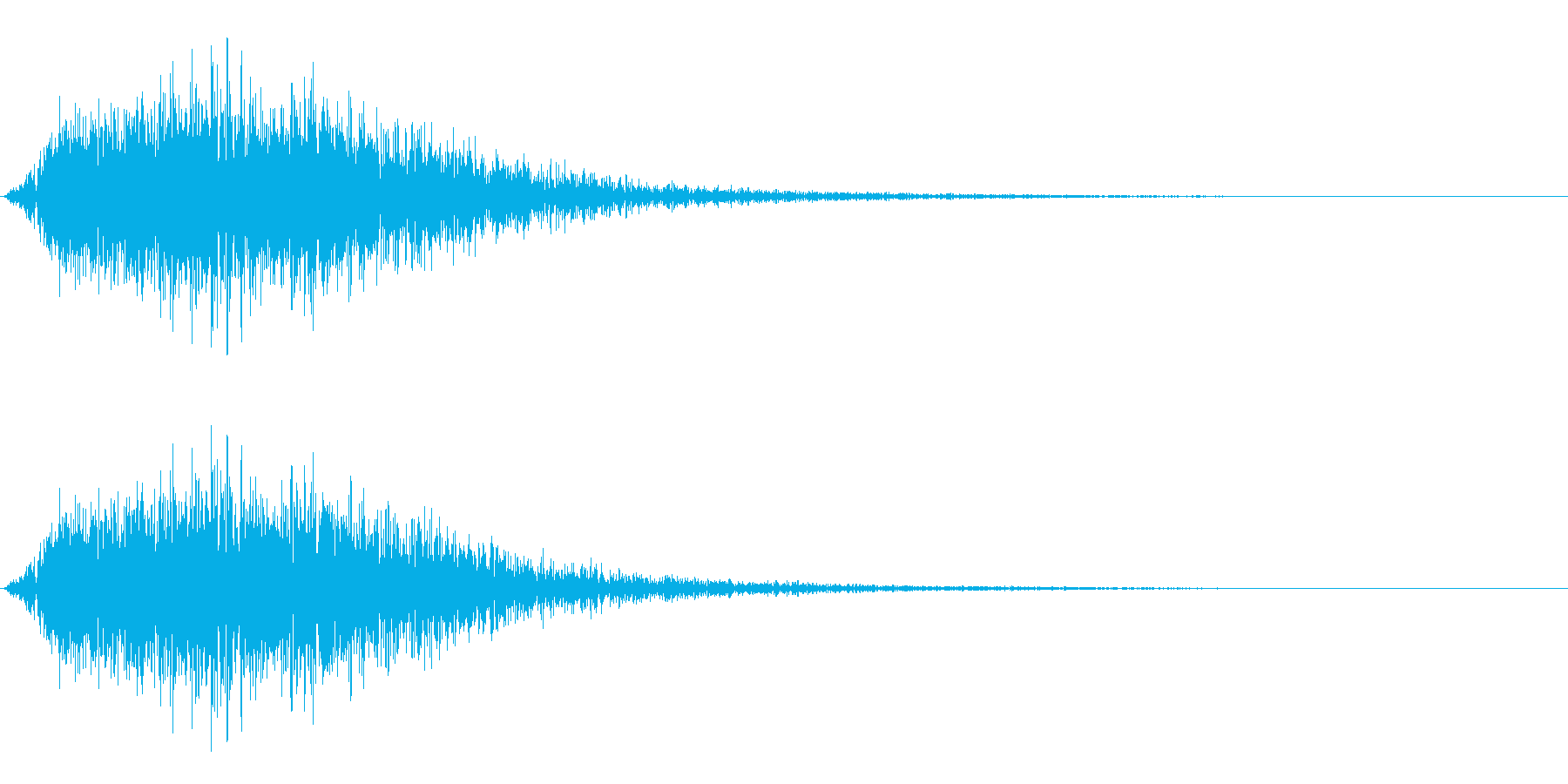 炎系魔法(ボウッ!)の再生済みの波形