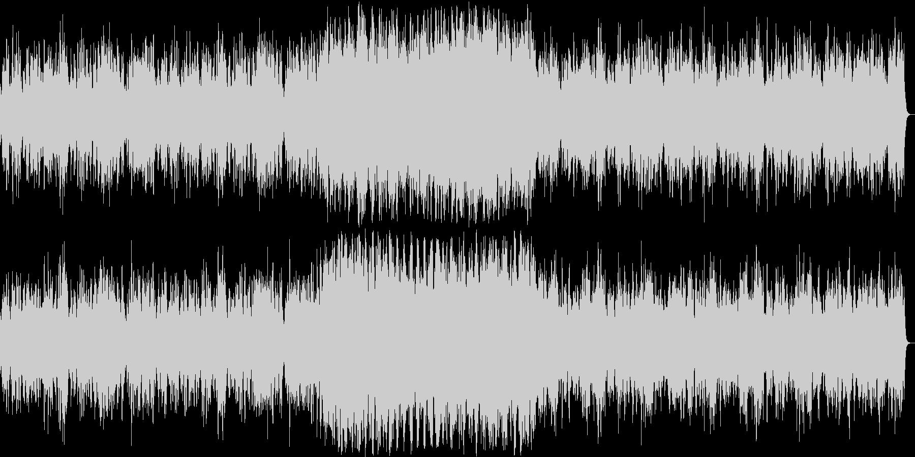神聖な雰囲気のシンセサイザーサウンドの未再生の波形