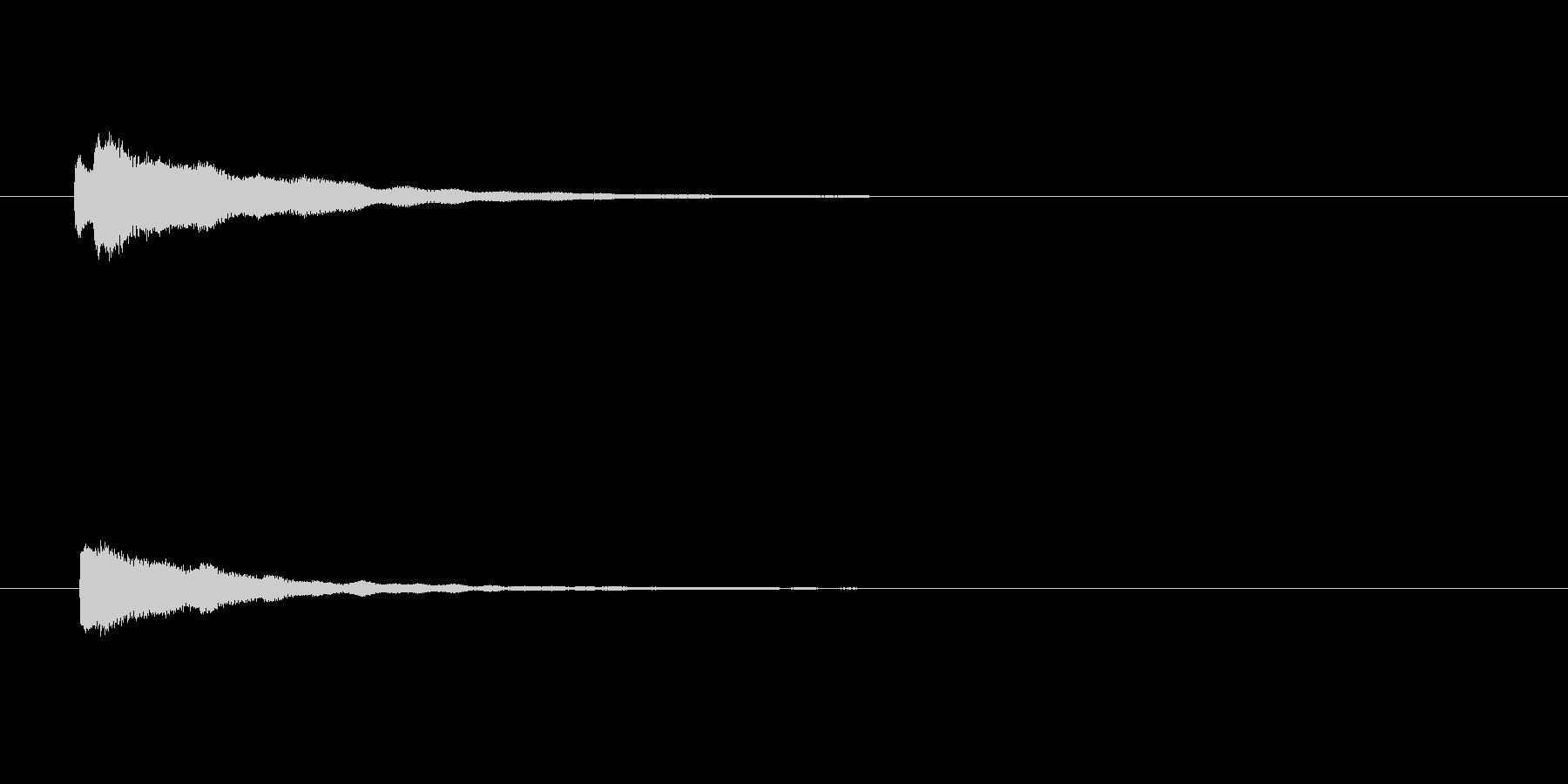 【アクセント25-3】の未再生の波形