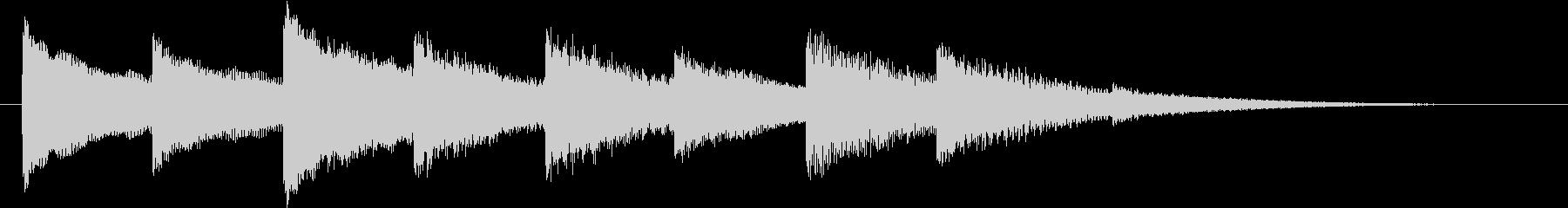 ホラー・不穏なベルの音の未再生の波形