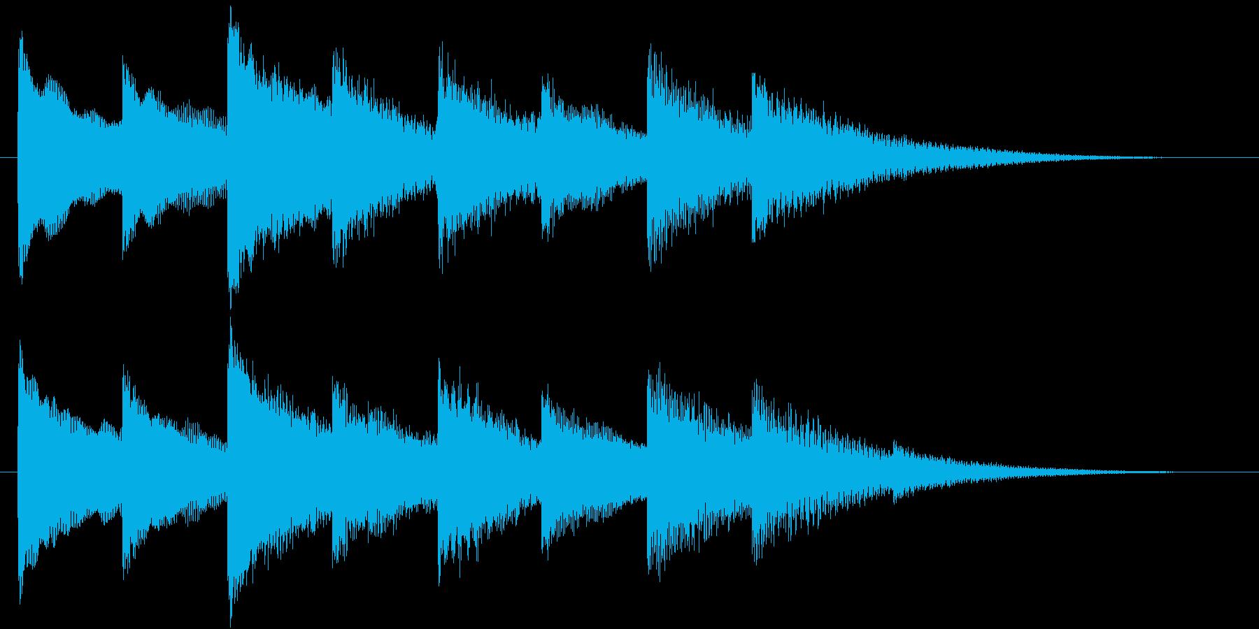 ホラー・不穏なベルの音の再生済みの波形
