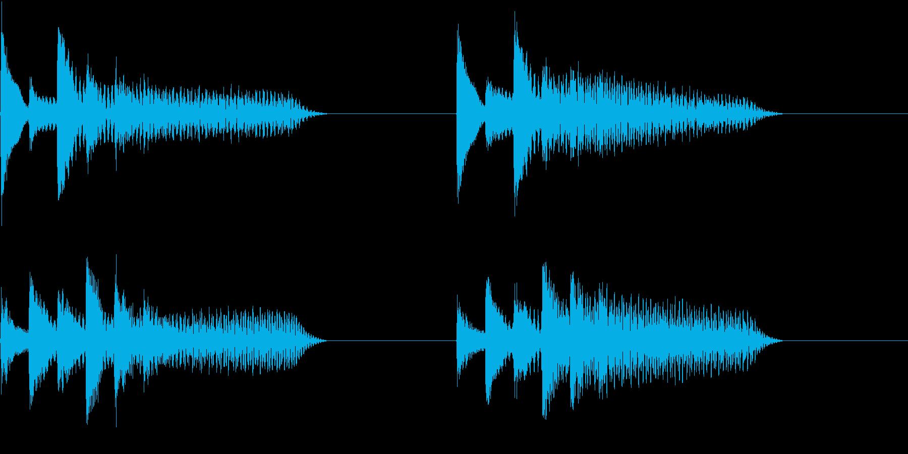 着信音 ループ お知らせ 通知 10の再生済みの波形