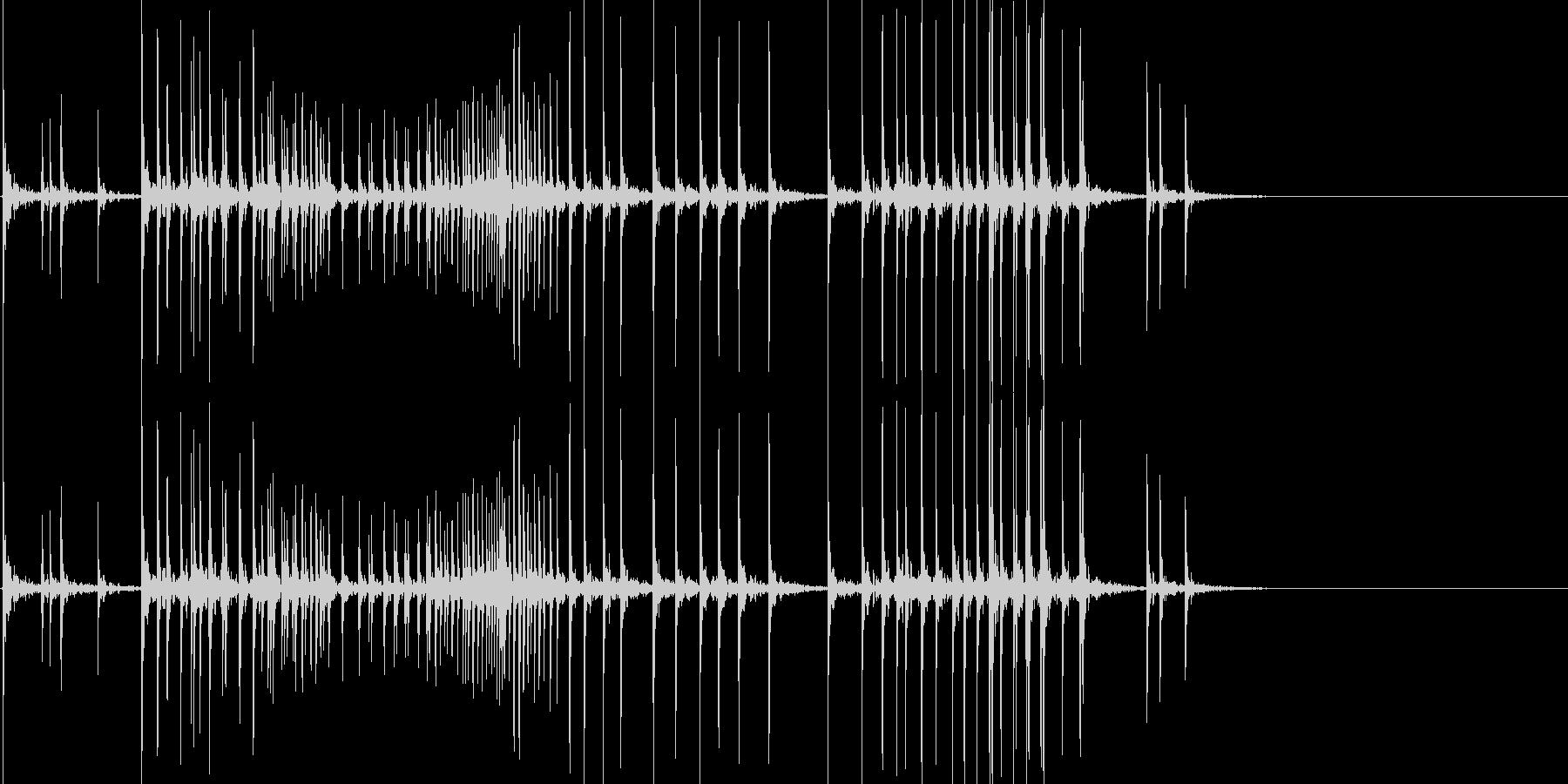 苦しい音01(ギギギギ)の未再生の波形