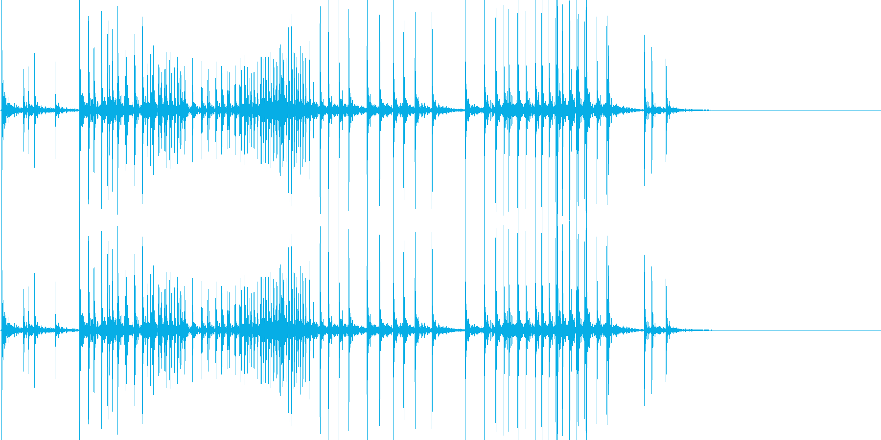 苦しい音01(ギギギギ)の再生済みの波形