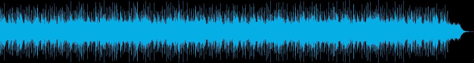 キレイな響きのリラクゼーション曲の再生済みの波形