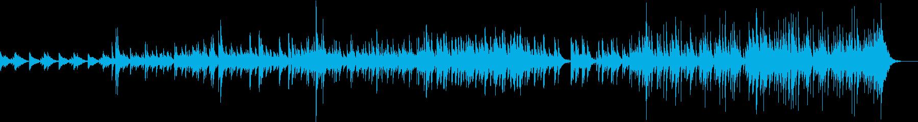 ピアノメインの軽快なジャズ・ヒーリングの再生済みの波形