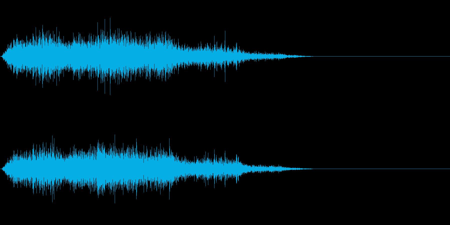 モンスター/獣/ゾンビ等の鳴き声!02Bの再生済みの波形