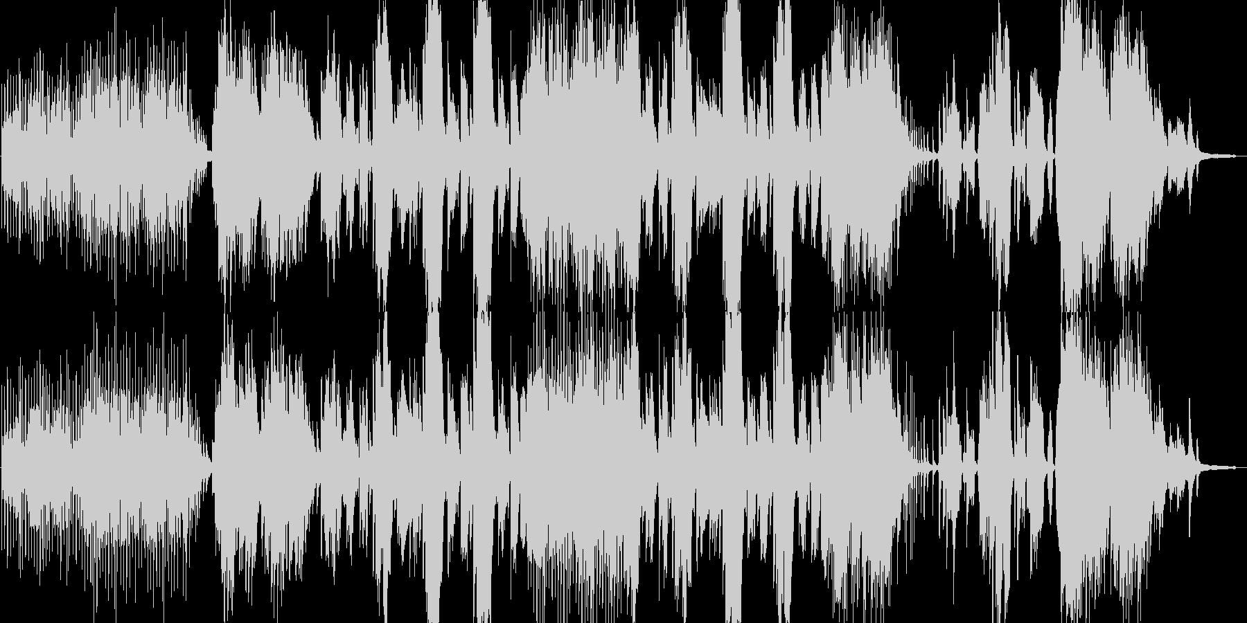 穏やかなピアノと歌が主体の秋の楽曲の未再生の波形