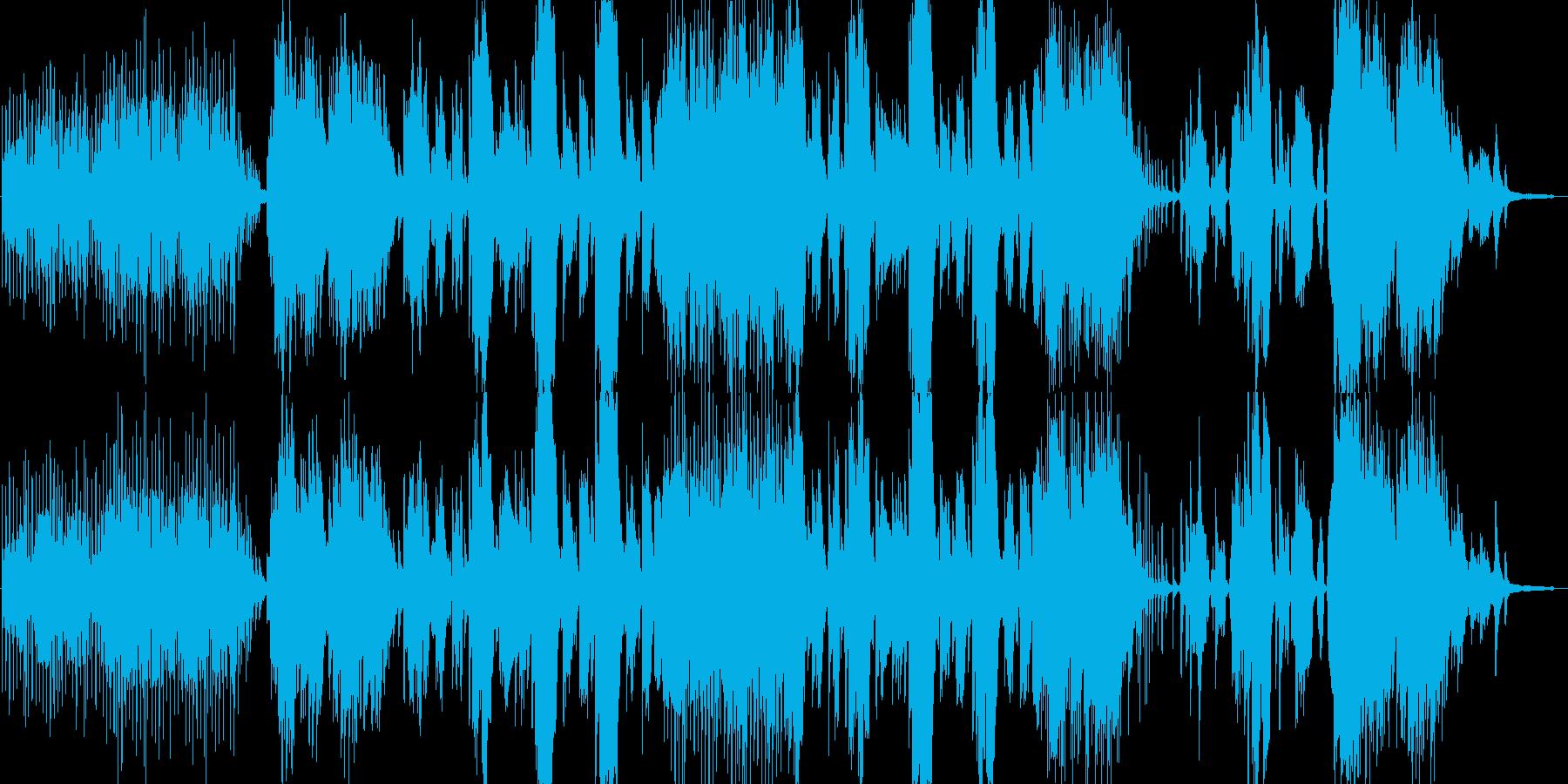 穏やかなピアノと歌が主体の秋の楽曲の再生済みの波形