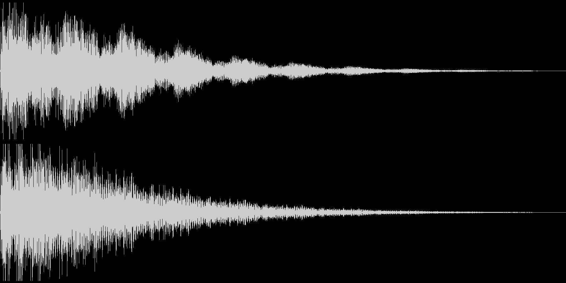ショックの音の未再生の波形
