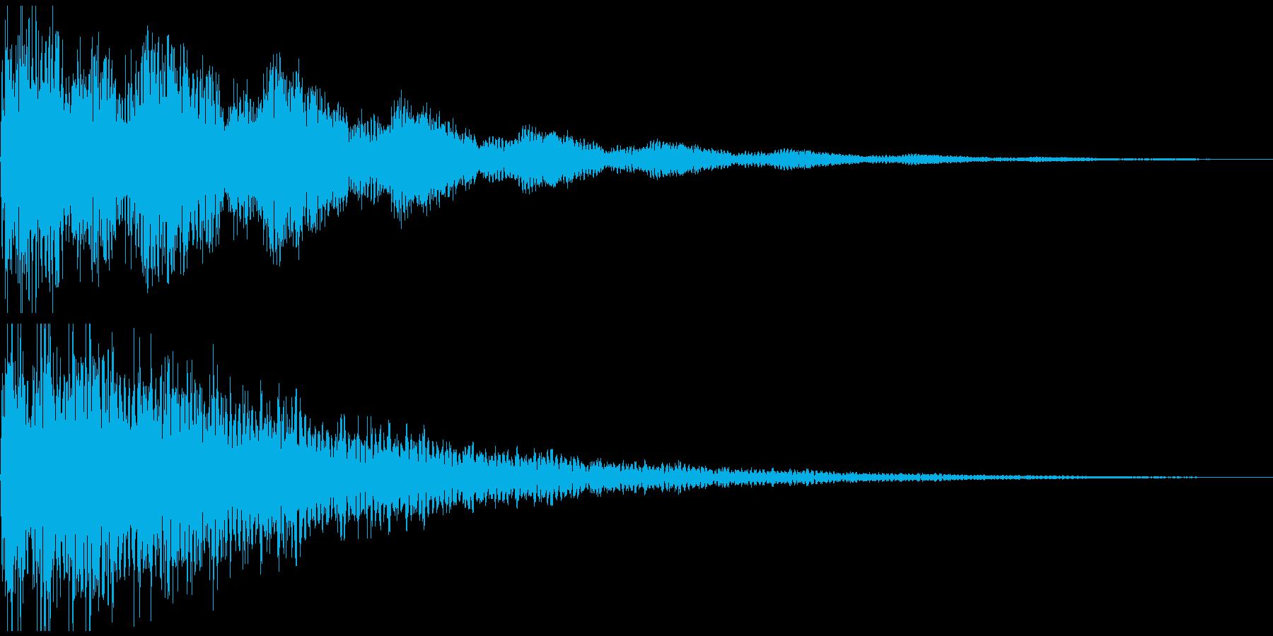 ショックの音の再生済みの波形