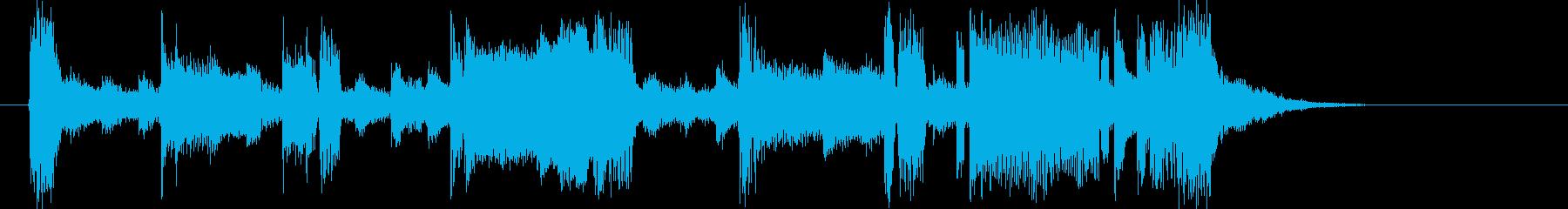 爽やかでありトランペットが印象的なBGMの再生済みの波形