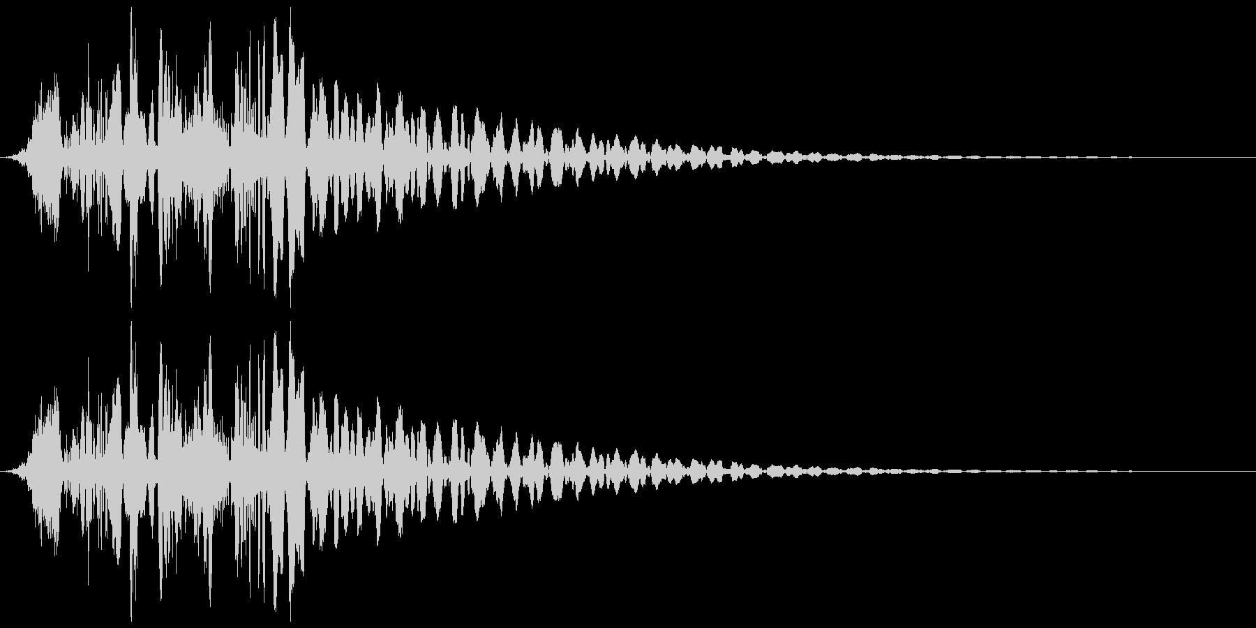 ゲームに使えそうな射出音の未再生の波形