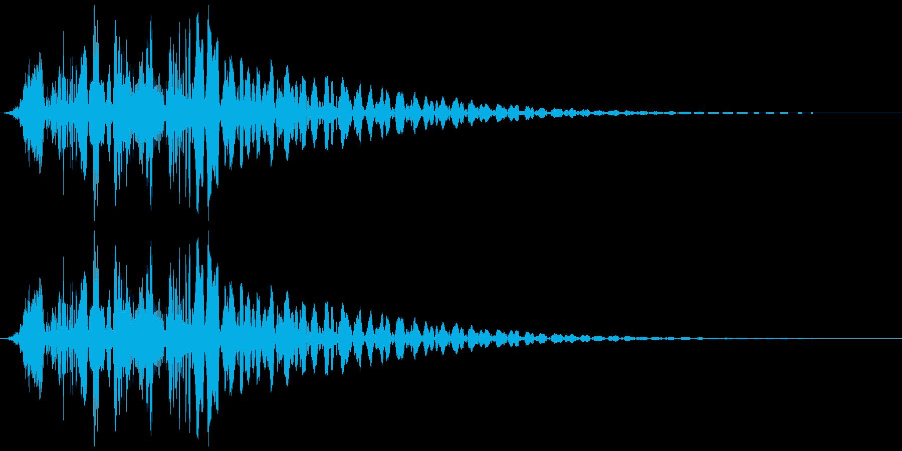 ゲームに使えそうな射出音の再生済みの波形