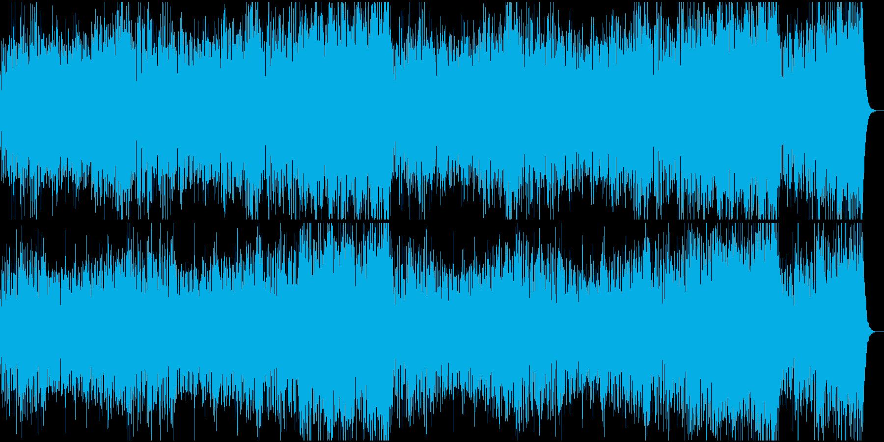 荘厳で疾走感のあるオーケストラの再生済みの波形