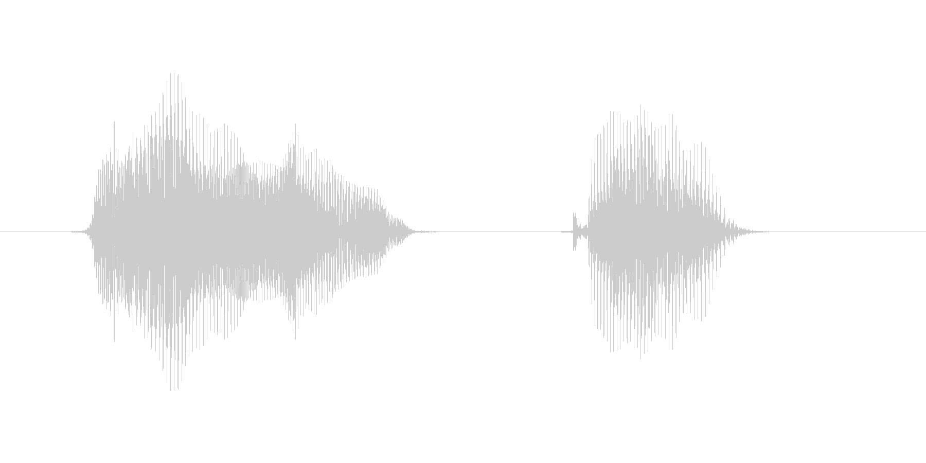 もう1回(もう1回)の未再生の波形