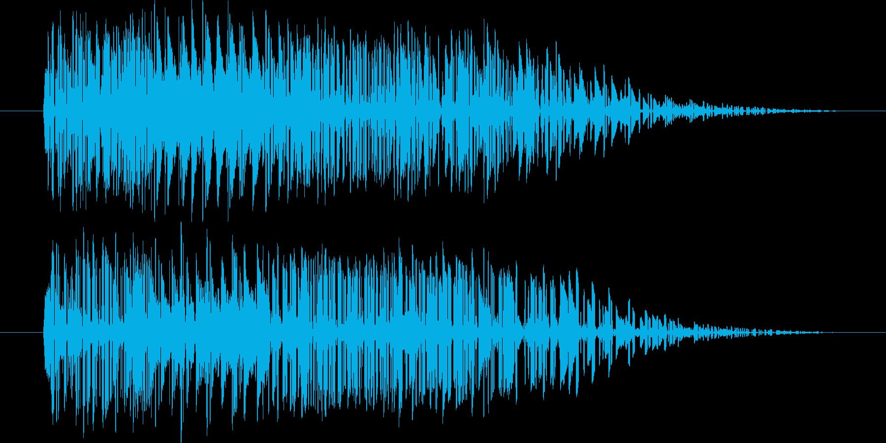 【SE】爆発音01(小)の再生済みの波形