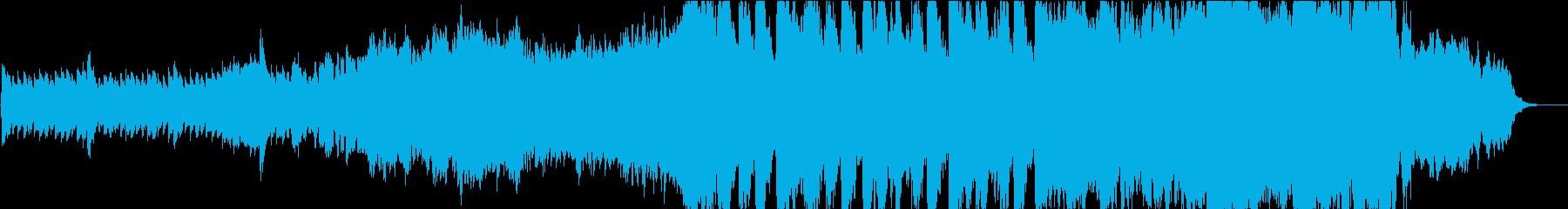 静かなピアノから壮大なオケ⑤60秒版の再生済みの波形