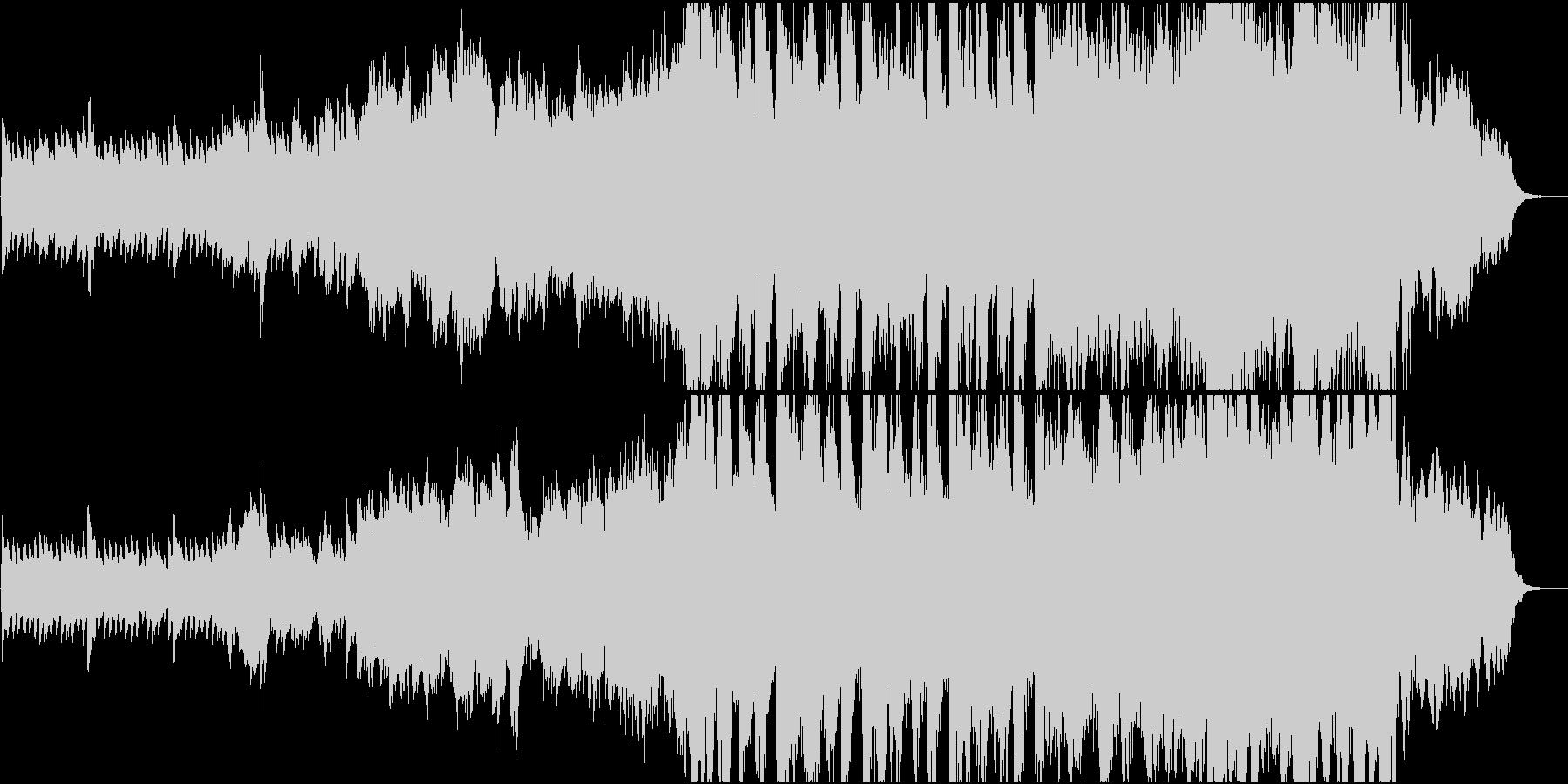 静かなピアノから壮大なオケ⑤60秒版の未再生の波形