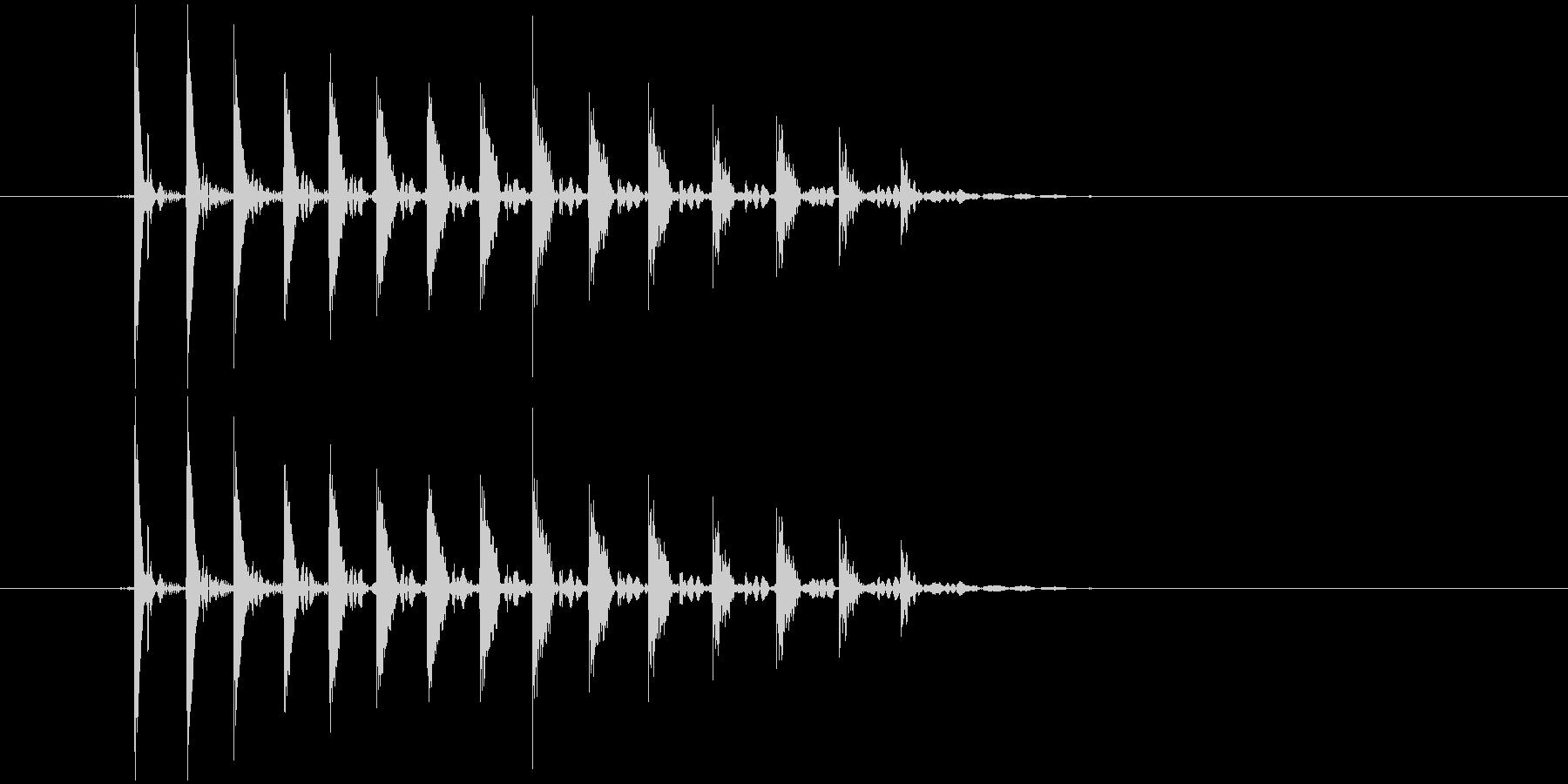 「ぽぽぽょょん」という不思議な音の未再生の波形