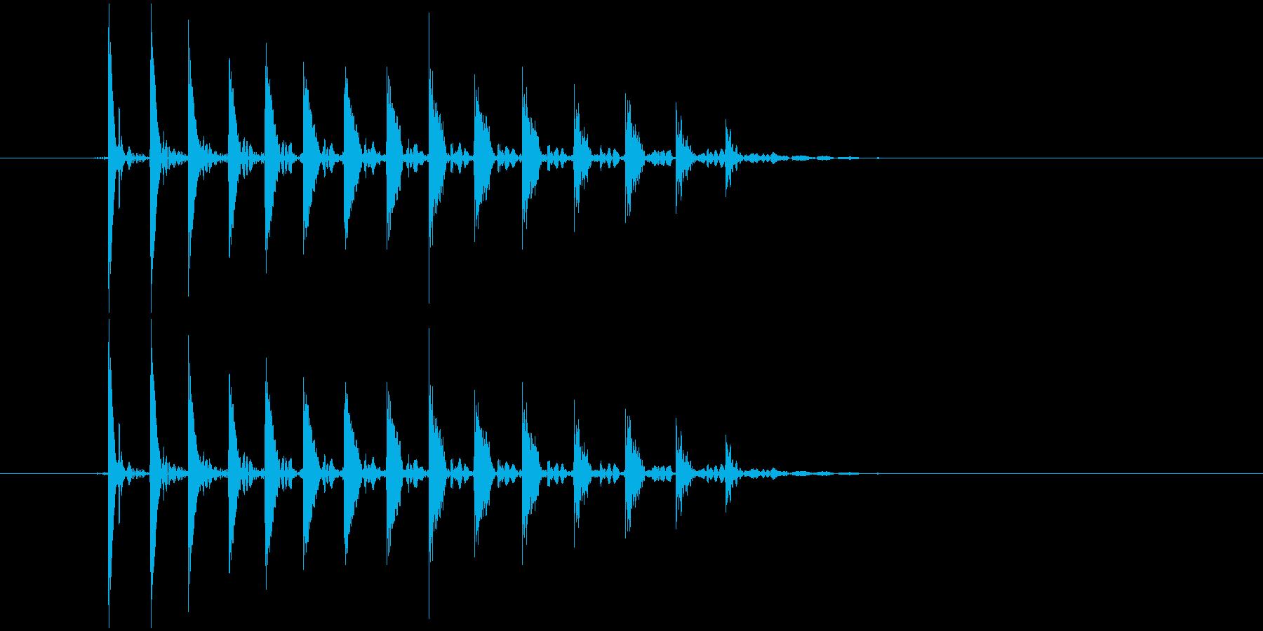 「ぽぽぽょょん」という不思議な音の再生済みの波形