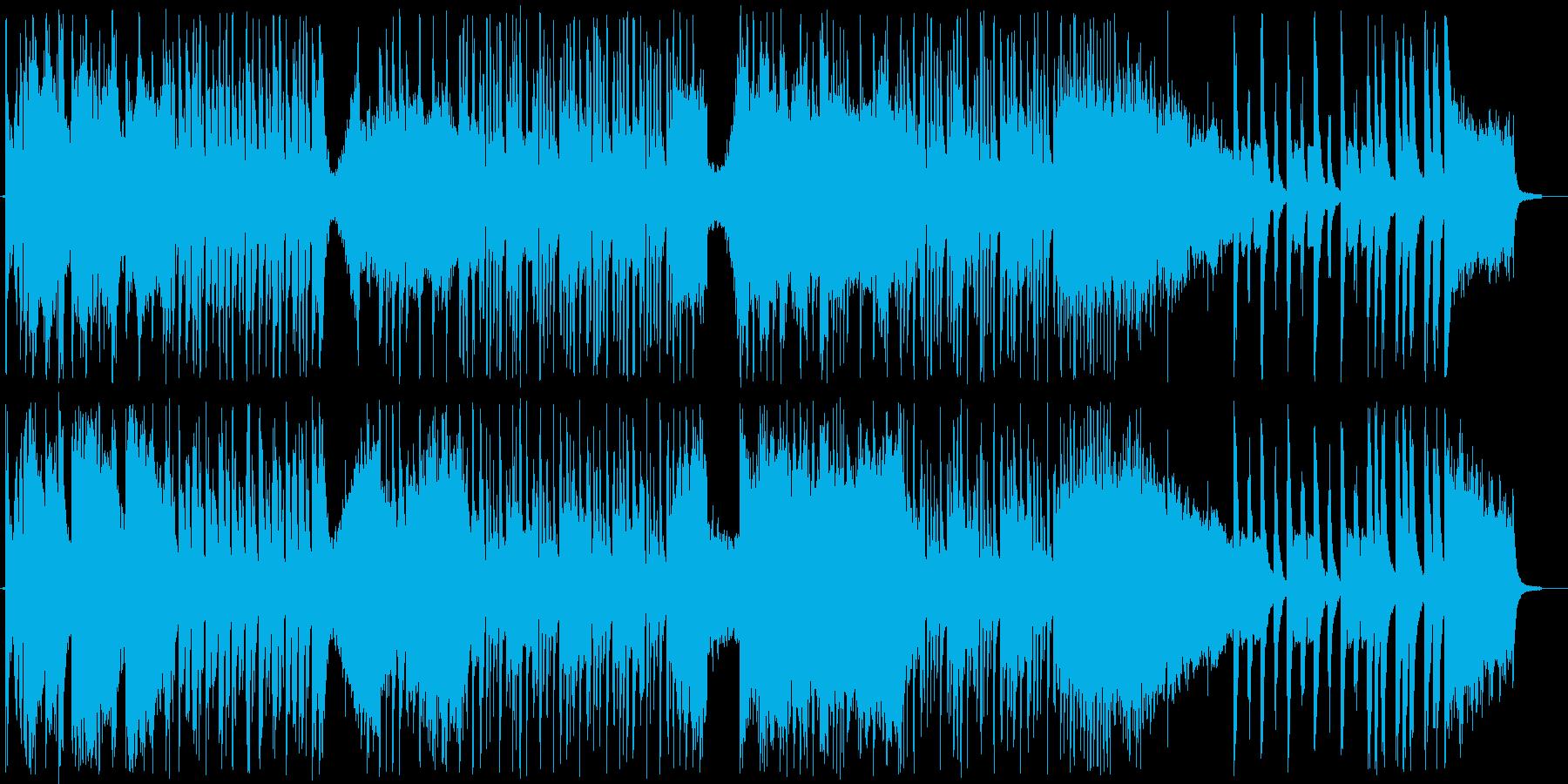 わくわく感のシンセ・打楽器などのサウンドの再生済みの波形