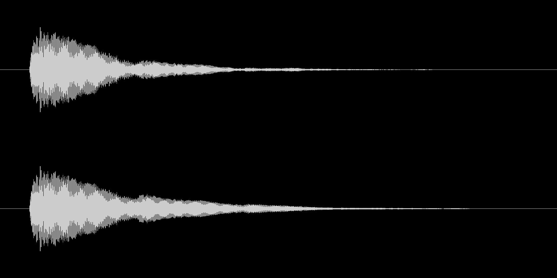 シンプルなボタン音3(ポン)の未再生の波形