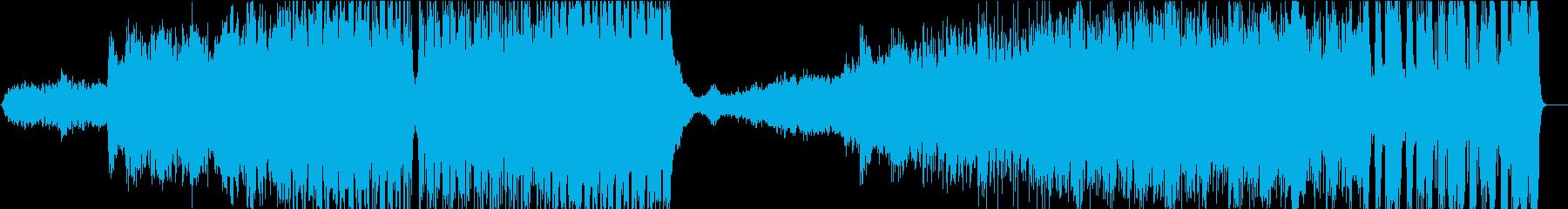 壮大な宇宙規模のSFのテーマ曲の再生済みの波形