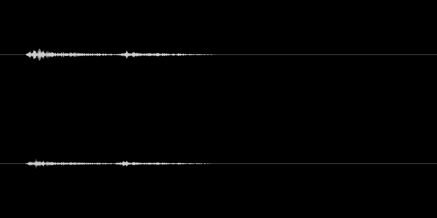 チッ(控えめな着火音)の未再生の波形
