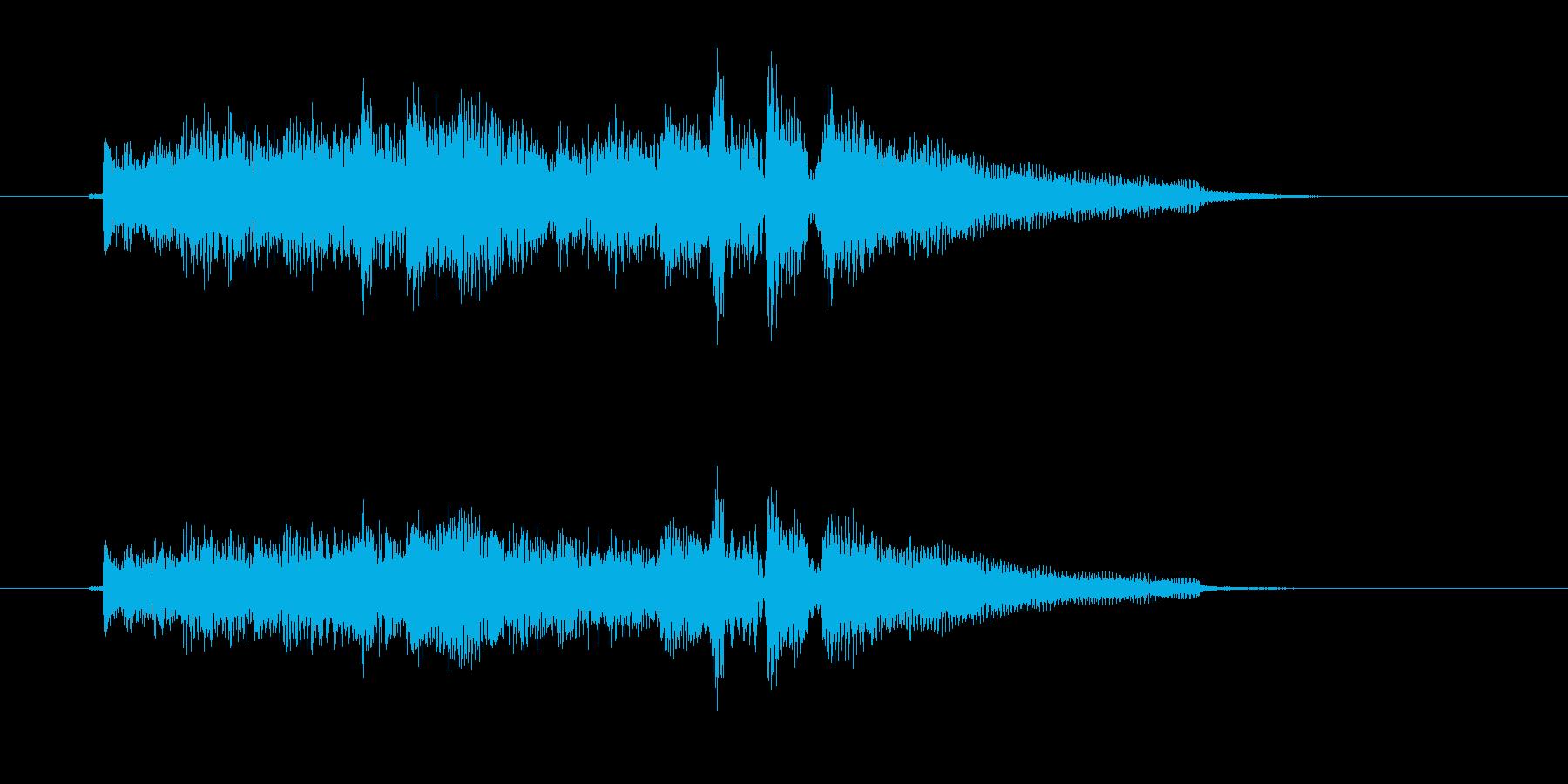 緩やかでメロディアスなアコギジングルの再生済みの波形