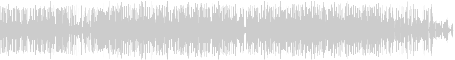 跳ねてスピード感のあるPV的なBGMの未再生の波形