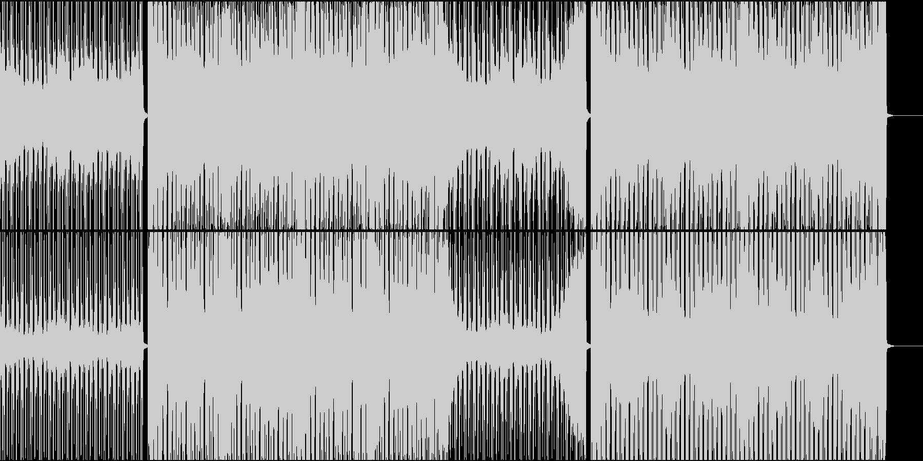 パーカッションが賑やかなハウスの未再生の波形