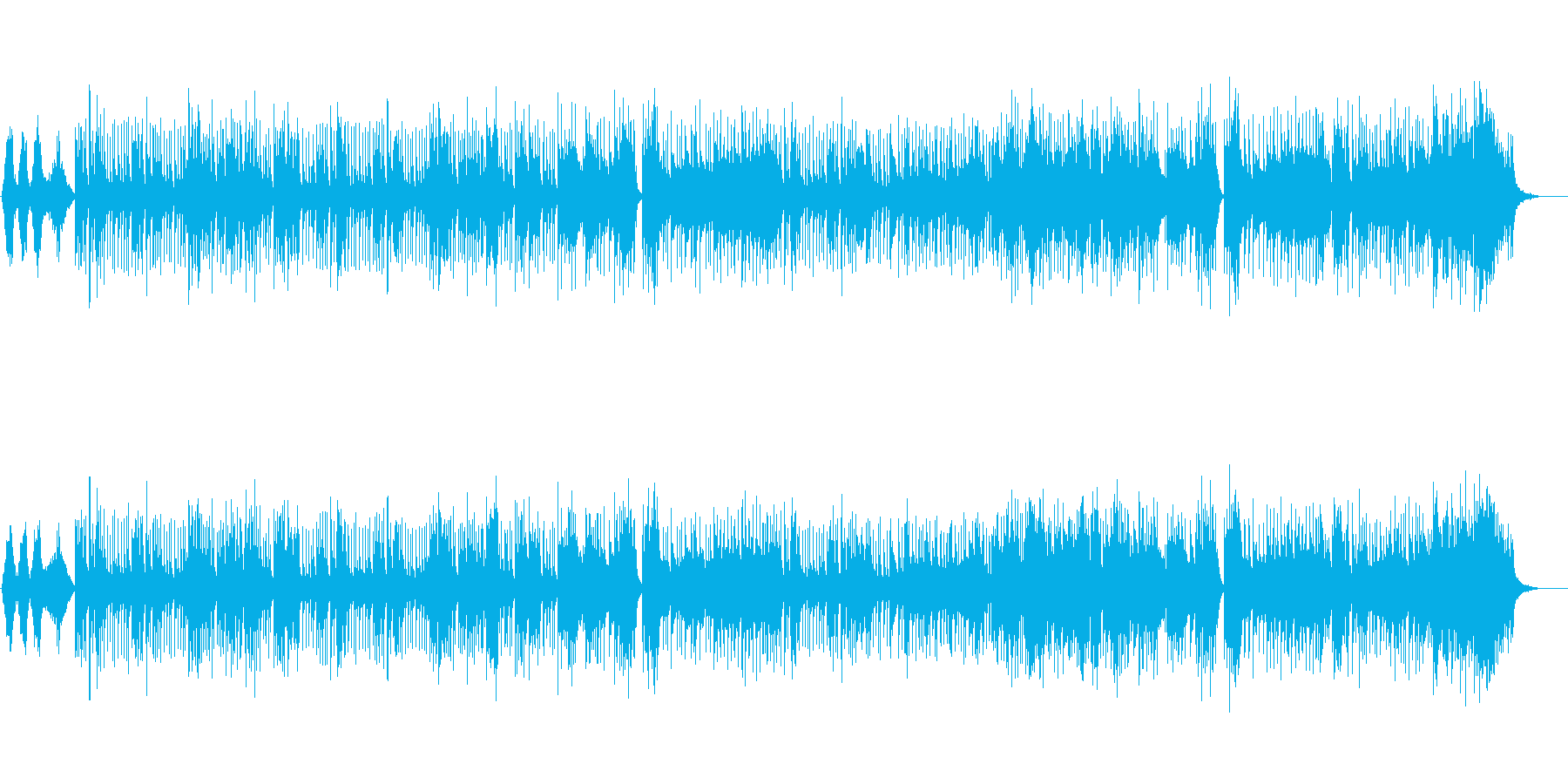オリエンタル・ムードのポップスの再生済みの波形