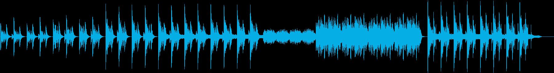 琴の音色でメロディーインストの再生済みの波形