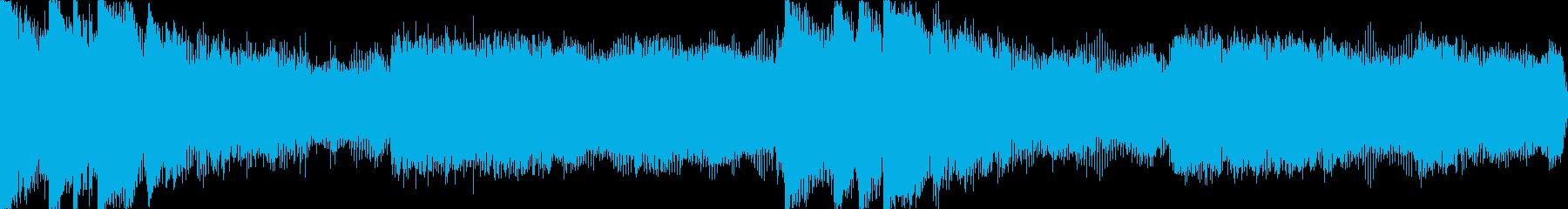 【ループA】ヘヴィーで攻撃的エレキギターの再生済みの波形