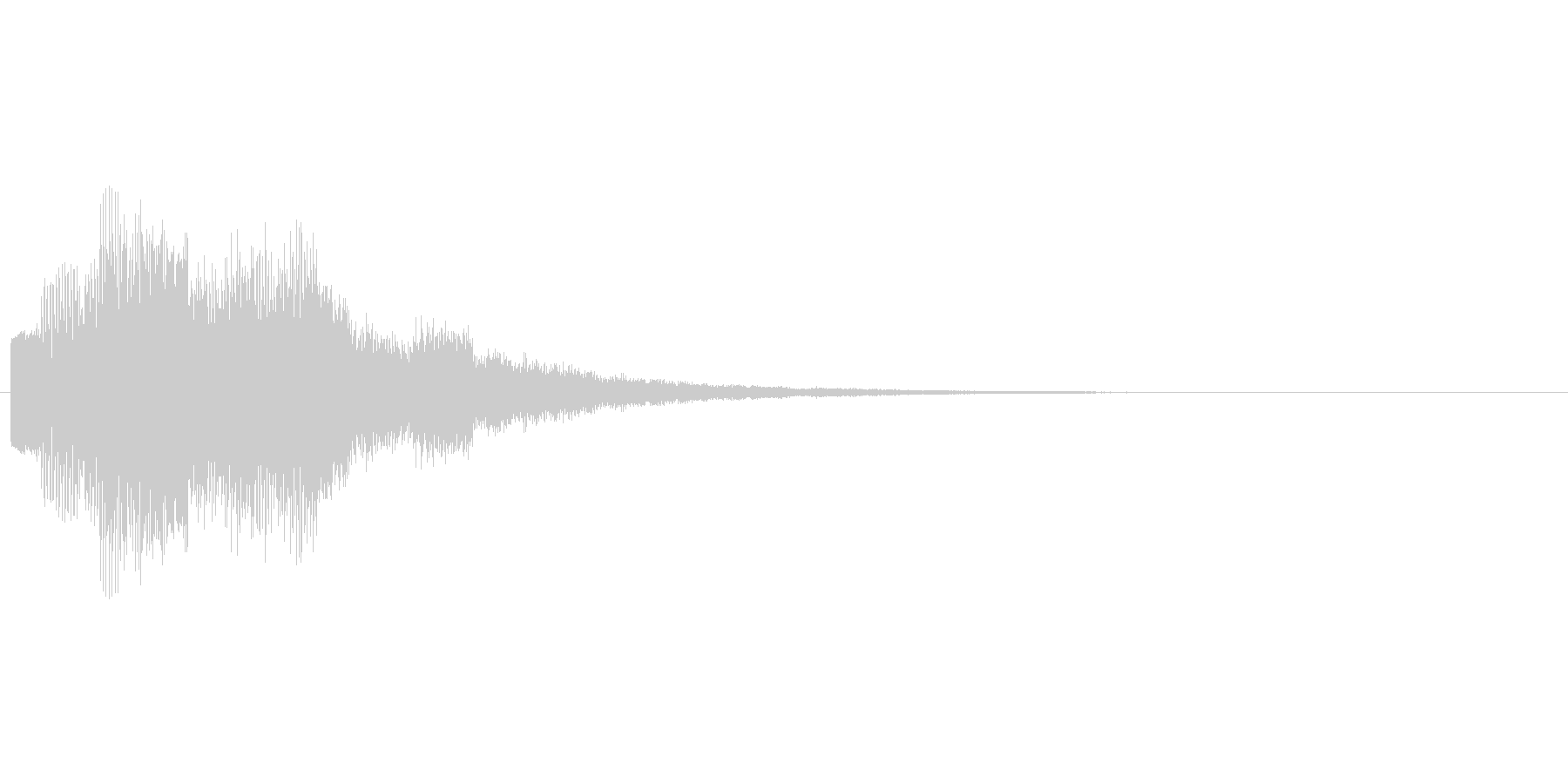 回復やアイテム発見をイメージした効果音の未再生の波形