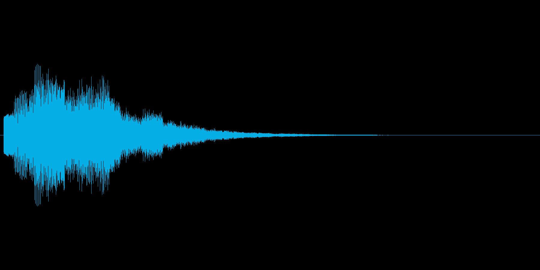 回復やアイテム発見をイメージした効果音の再生済みの波形