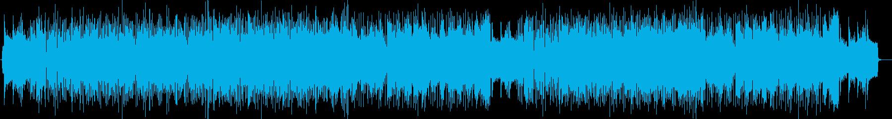 ドラムのシンバルが印象的なミュージックの再生済みの波形