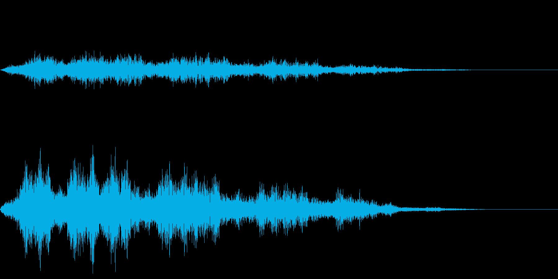 空を飛ぶ音01_シンセの再生済みの波形