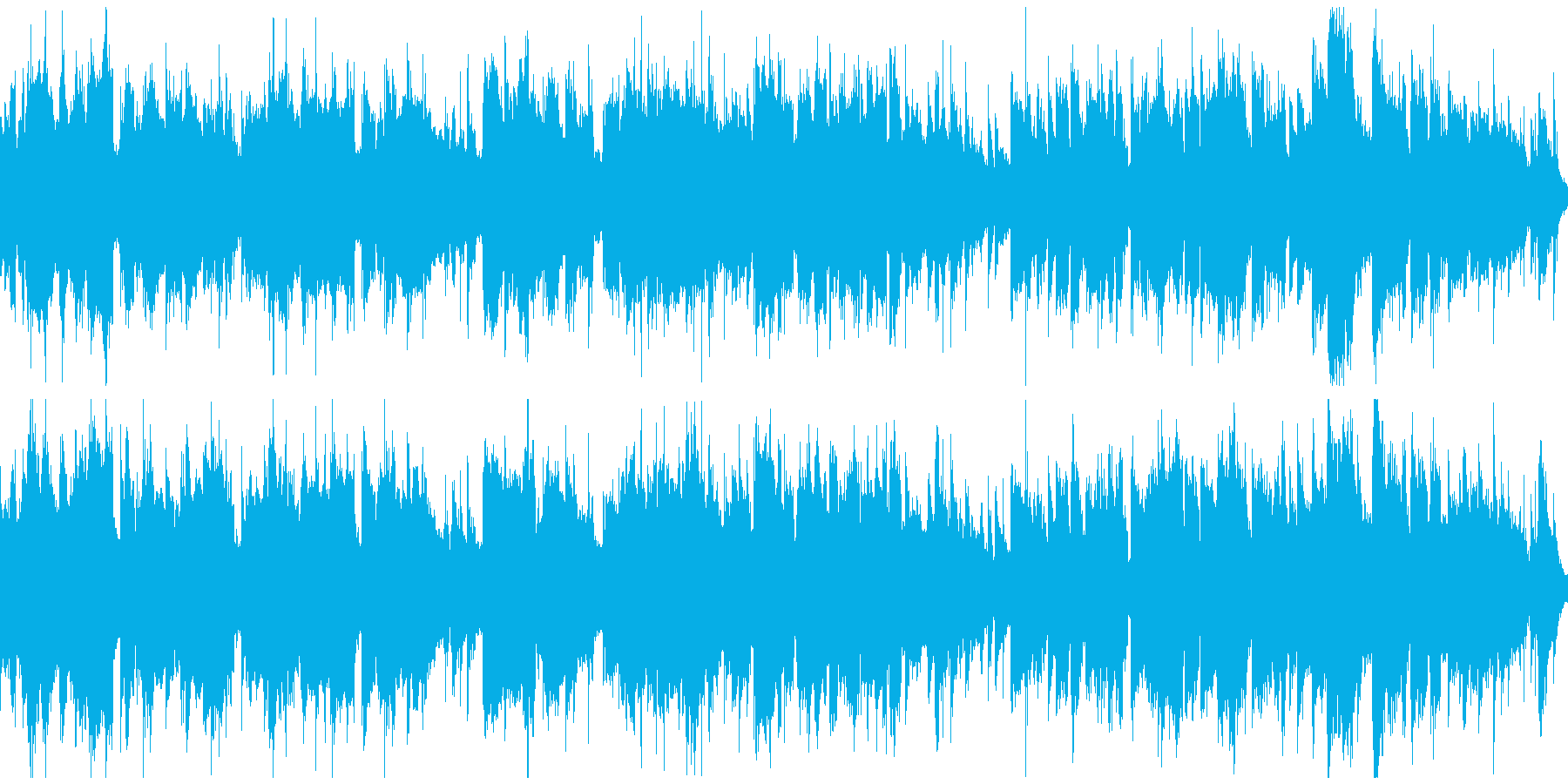 温泉や和をイメージしたBGM(ループ)の再生済みの波形