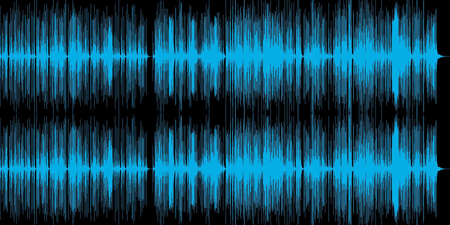 筝曲の雰囲気の和風BGMの再生済みの波形