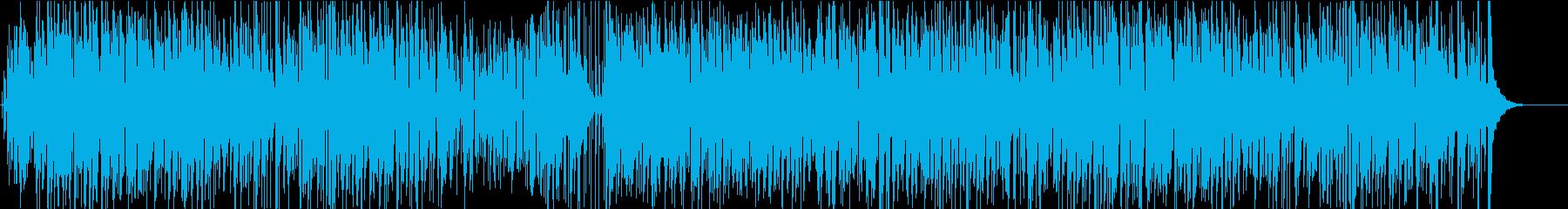 オープニング映像にジャズピアノでボサノバの再生済みの波形
