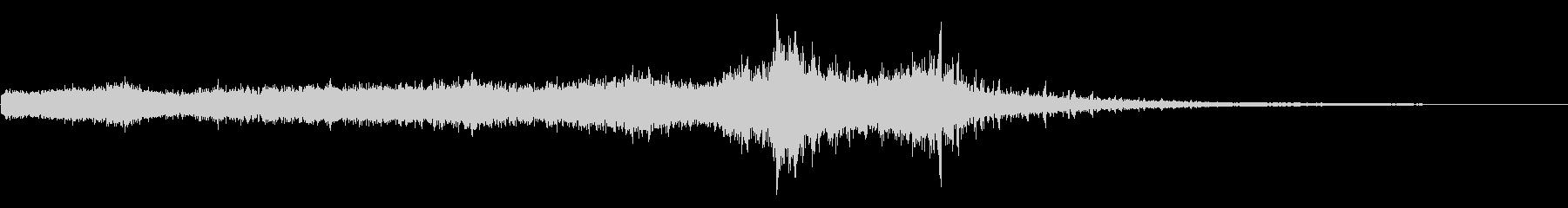 ホラー映画に出てきそうなノイズ系音源05の未再生の波形