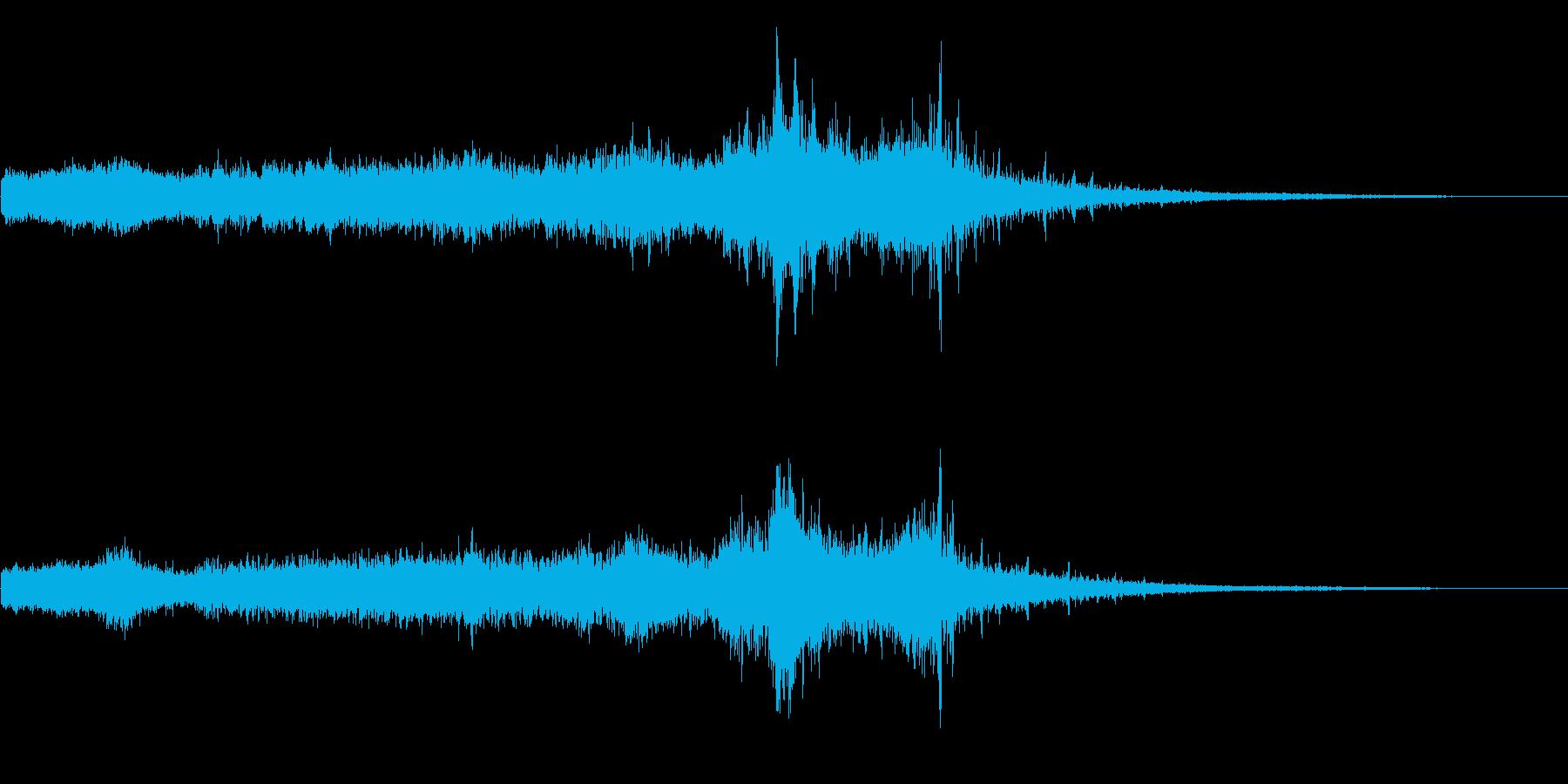 ホラー映画に出てきそうなノイズ系音源05の再生済みの波形