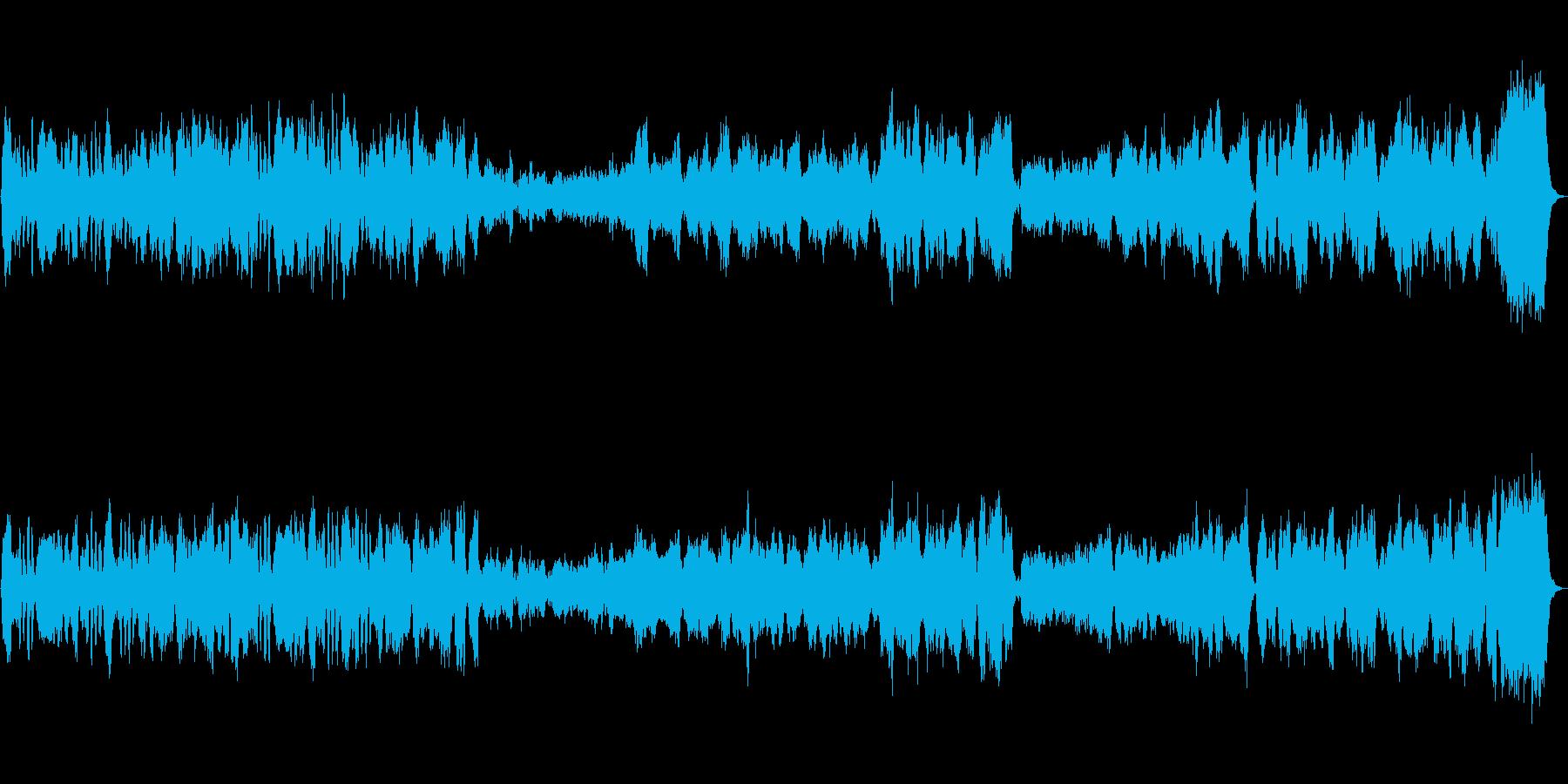 美しい贅沢なストリングスアンサンブル曲の再生済みの波形