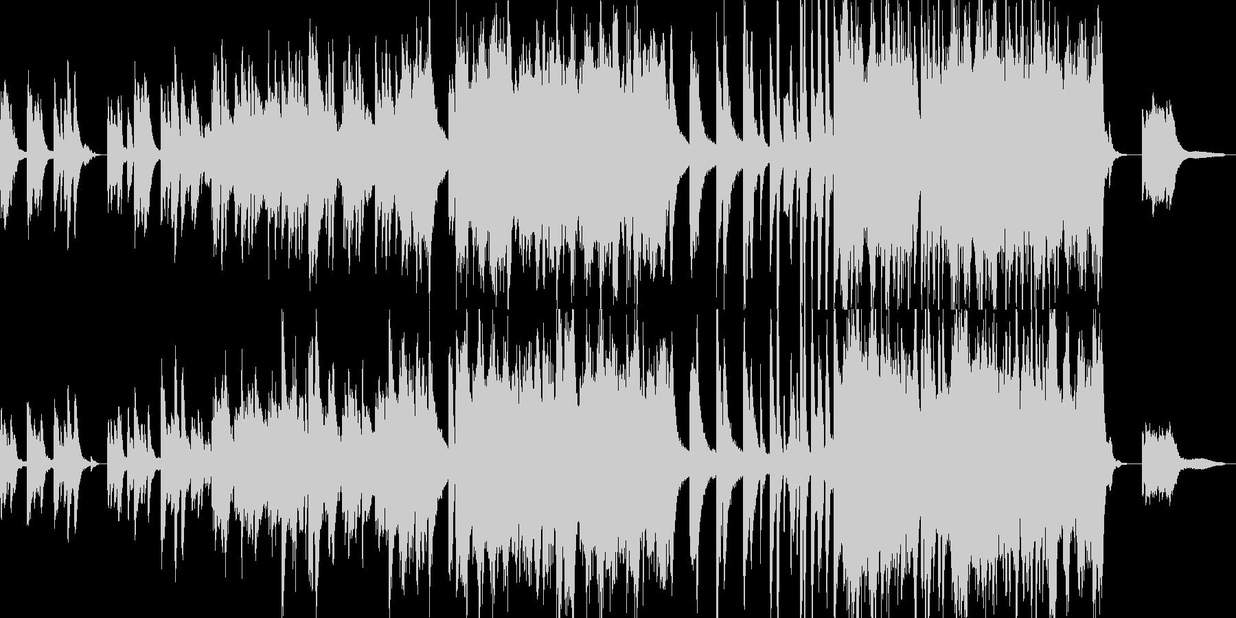叙情的で悲しいピアノの独奏の未再生の波形